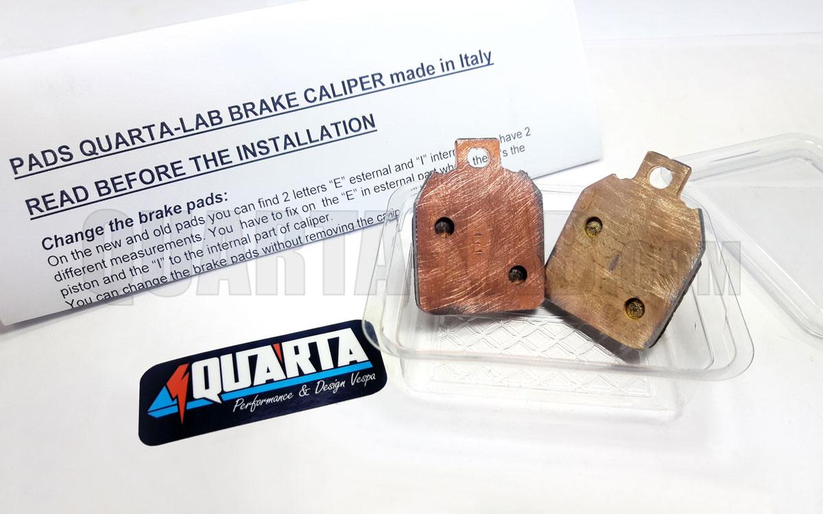 PASTIGLIE Dedicate PINZA FRENO Meccanica QUARTA-LAB made in Italy